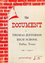 Page 5, 1961 Edition, Thomas Jefferson High School - Document Yearbook (Dallas, TX) online yearbook collection