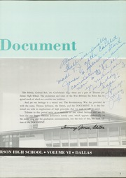 Page 7, 1962 Edition, Thomas Jefferson High School - Document Yearbook (Dallas, TX) online yearbook collection