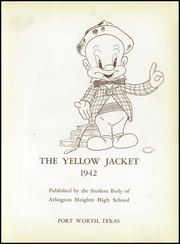 Page 9, 1942 Edition, Arlington Heights High School - Yellow Jacket Yearbook (Fort Worth, TX) online yearbook collection