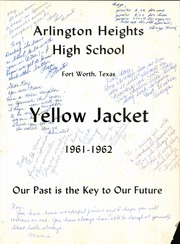 Page 1, 1962 Edition, Arlington Heights High School - Yellow Jacket Yearbook (Fort Worth, TX) online yearbook collection