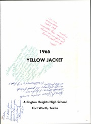 Page 5, 1965 Edition, Arlington Heights High School - Yellow Jacket Yearbook (Fort Worth, TX) online yearbook collection
