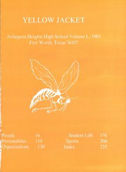 Page 3, 1983 Edition, Arlington Heights High School - Yellow Jacket Yearbook (Fort Worth, TX) online yearbook collection