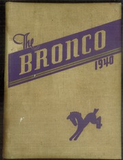 Page 1, 1940 Edition, Denton High School - Bronco Yearbook (Denton, TX) online yearbook collection