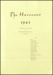 Page 3, 1941 Edition, Pampa High School - Harvester Yearbook (Pampa, TX) online yearbook collection