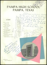 Page 5, 1958 Edition, Pampa High School - Harvester Yearbook (Pampa, TX) online yearbook collection