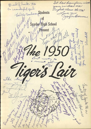 Page 7, 1950 Edition, Snyder High School - Tigers Lair Yearbook (Snyder, TX) online yearbook collection