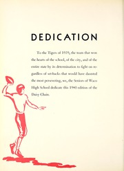 Page 10, 1940 Edition, Waco High School - Daisy Chain Yearbook (Waco, TX) online yearbook collection