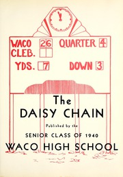 Page 7, 1940 Edition, Waco High School - Daisy Chain Yearbook (Waco, TX) online yearbook collection