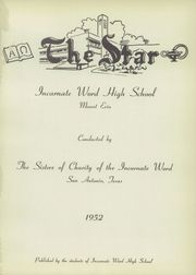 Page 5, 1952 Edition, Incarnate Word High School - Star Yearbook (San Antonio, TX) online yearbook collection