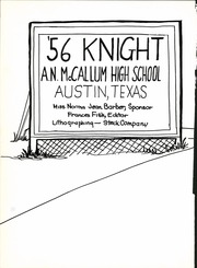 Page 6, 1956 Edition, McCallum High School - Knight Yearbook (Austin, TX) online yearbook collection