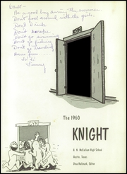 Page 5, 1960 Edition, McCallum High School - Knight Yearbook (Austin, TX) online yearbook collection