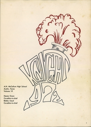 Page 5, 1972 Edition, McCallum High School - Knight Yearbook (Austin, TX) online yearbook collection