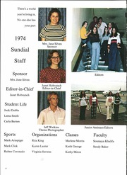 Page 8, 1974 Edition, Sunset High School - Sundial Yearbook (Dallas, TX) online yearbook collection