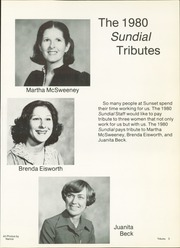 Page 7, 1980 Edition, Sunset High School - Sundial Yearbook (Dallas, TX) online yearbook collection