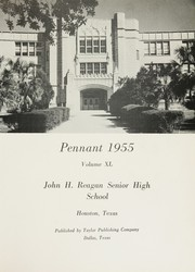 Page 5, 1955 Edition, John H Reagan Senior High School - Pennant Yearbook (Houston, TX) online yearbook collection