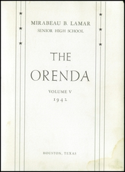 Page 5, 1942 Edition, Lamar High School - Orenda Yearbook (Houston, TX) online yearbook collection
