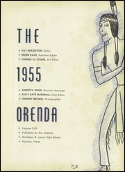 Page 5, 1955 Edition, Lamar High School - Orenda Yearbook (Houston, TX) online yearbook collection