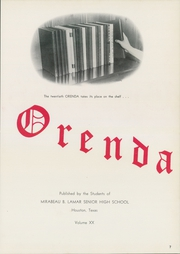 Page 11, 1958 Edition, Lamar High School - Orenda Yearbook (Houston, TX) online yearbook collection