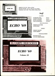 Page 5, 1969 Edition, El Campo High School - Echo Yearbook (El Campo, TX) online yearbook collection
