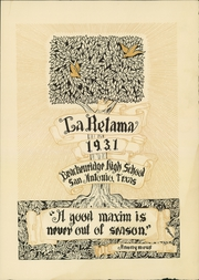 Page 9, 1931 Edition, Brackenridge High School - La Retama Yearbook (San Antonio, TX) online yearbook collection