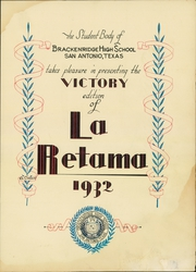 Page 7, 1932 Edition, Brackenridge High School - La Retama Yearbook (San Antonio, TX) online yearbook collection