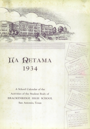 Page 7, 1934 Edition, Brackenridge High School - La Retama Yearbook (San Antonio, TX) online yearbook collection