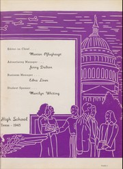 Page 7, 1945 Edition, Brackenridge High School - La Retama Yearbook (San Antonio, TX) online yearbook collection