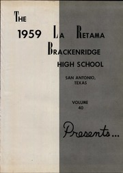Page 5, 1959 Edition, Brackenridge High School - La Retama Yearbook (San Antonio, TX) online yearbook collection