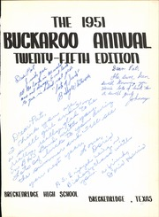Page 5, 1951 Edition, Breckenridge High School - Buckaroo Yearbook (Breckenridge, TX) online yearbook collection