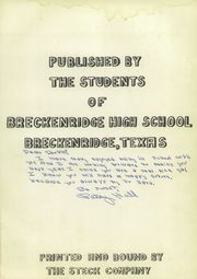 Page 5, 1954 Edition, Breckenridge High School - Buckaroo Yearbook (Breckenridge, TX) online yearbook collection
