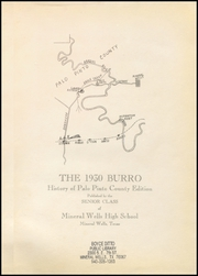 Page 5, 1930 Edition, Mineral Wells High School - Burro Yearbook (Mineral Wells, TX) online yearbook collection