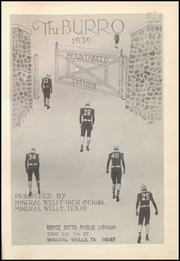 Page 5, 1939 Edition, Mineral Wells High School - Burro Yearbook (Mineral Wells, TX) online yearbook collection