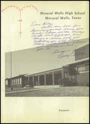 Page 5, 1958 Edition, Mineral Wells High School - Burro Yearbook (Mineral Wells, TX) online yearbook collection