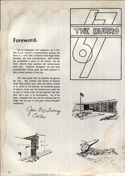 Page 6, 1967 Edition, Mineral Wells High School - Burro Yearbook (Mineral Wells, TX) online yearbook collection