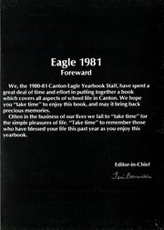 Page 8, 1981 Edition, Canton High School - Eagle Yearbook (Canton, TX) online yearbook collection