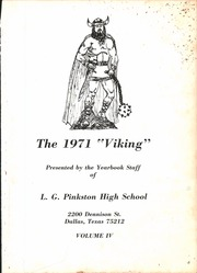 Page 5, 1971 Edition, L G Pinkston High School - Viking Yearbook (Dallas, TX) online yearbook collection