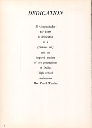 Page 10, 1960 Edition, Bryan Adams High School - El Conquistador Yearbook (Dallas, TX) online yearbook collection