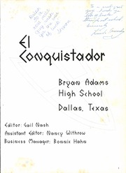 Page 5, 1967 Edition, Bryan Adams High School - El Conquistador Yearbook (Dallas, TX) online yearbook collection