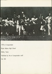 Page 5, 1970 Edition, Bryan Adams High School - El Conquistador Yearbook (Dallas, TX) online yearbook collection