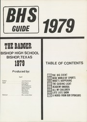 Page 5, 1979 Edition, Bishop High School - Badger Yearbook (Bishop, TX) online yearbook collection