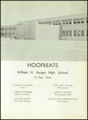Page 7, 1959 Edition, Burges High School - Hoofbeats Yearbook (El Paso, TX) online yearbook collection