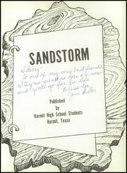 Page 5, 1960 Edition, Kermit High School - Sandstorm Yearbook (Kermit, TX) online yearbook collection