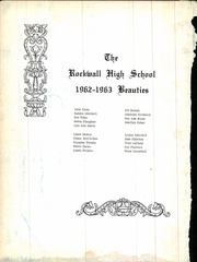 Page 6, 1963 Edition, Rockwall High School - Jacket Yearbook (Rockwall, TX) online yearbook collection