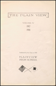 Page 7, 1918 Edition, Plainview High School - Plain View Yearbook (Plainview, TX) online yearbook collection