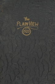 Plainview High School - Plain View Yearbook (Plainview, TX) online yearbook collection, 1920 Edition, Page 1