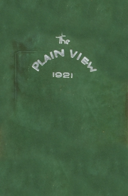 Plainview High School - Plain View Yearbook (Plainview, TX) online yearbook collection, 1921 Edition, Page 1