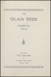 Page 5, 1922 Edition, Plainview High School - Plain View Yearbook (Plainview, TX) online yearbook collection