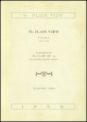 Page 5, 1924 Edition, Plainview High School - Plain View Yearbook (Plainview, TX) online yearbook collection