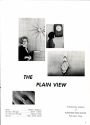 Page 5, 1962 Edition, Plainview High School - Plain View Yearbook (Plainview, TX) online yearbook collection