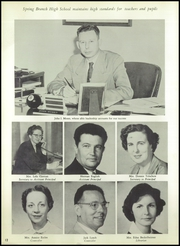 Page 16, 1957 Edition, Spring Branch High School - Bruin Yearbook (Houston, TX) online yearbook collection